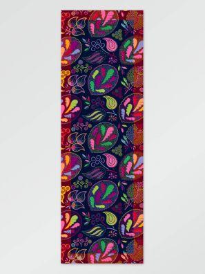 Scarf flower darkblue 65x198cm