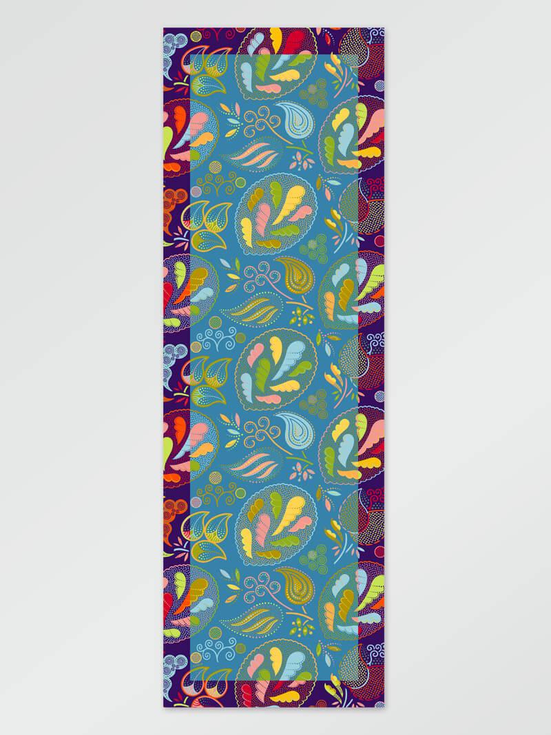 Image of Scarf flower lt blue 65x198cm